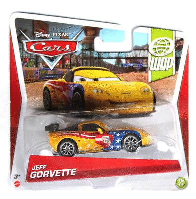 DISNEY PIXAR CARS JEFF GORVETTE IMPERFECT PACKAGE