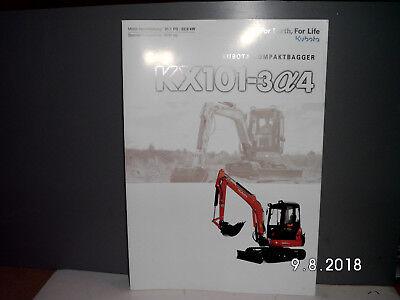Business & Industrie ZuverläSsige Leistung Kubota Kompaktbagger Kx101-3alpha4 Prospekt/broschÜre 8 Seiten Rar Baugewerbe