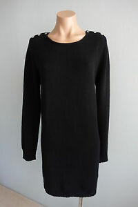 Sonya-Hopkins-Sydney-Long-Sleeve-Black-Cashmere-Knit-Dress-sz-L-12-14