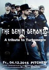 DENIM DEMON - 2015 - Konzertplakat - Turbonegro Tribute- Tourposter - Düssel.