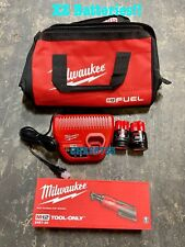 Milwaukee 2457-21 M12 Cordless 3/8 Lithium-Ion Ratchet Kit Two Batteries 1.5