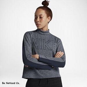 Sportswear para Knit Nike manga de su mujer Top azul larga jersey HxUfUqdwC