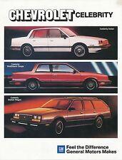 Chevrolet Celebrity Prospekt 9/83 brochure Auto PKWs Amerika USA 1983 Broschüre