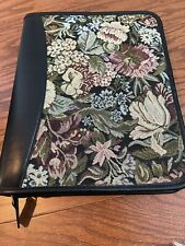 1075x875 Franklin Quest Black Leather Tapestry 175 Rings Planner Zip