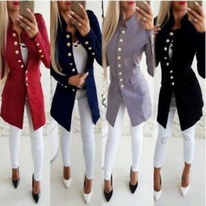 Women-Lady-Casual-Button-Slim-Long-Sleeve-Suit-Blazer-Coat-Jacket-Outwears-US