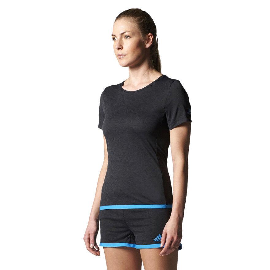 Adidas Uncontrol ClimaChill Damen-Trainings-T-Shirt Fitness Gym Running Tee