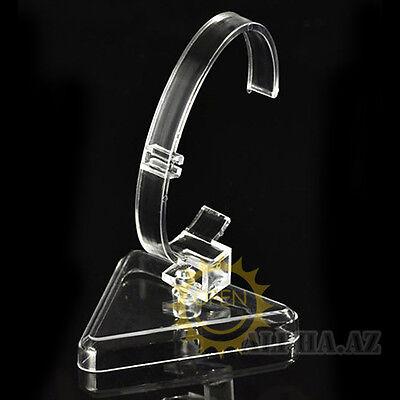 Lot Clear Durable HardPlatics Watch Bracelet Bangle Showing Display Holder Stand