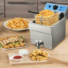 Commercial Electric Deep Fryer French Fry Bar Restaurant Tank Withoil Valveampbasket