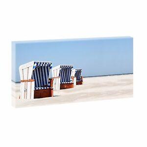 Strand-Bild-Strand-Meer-Duenen-Nordsee-Leinwand-Poster-XXL-40-cm-80-cm-670