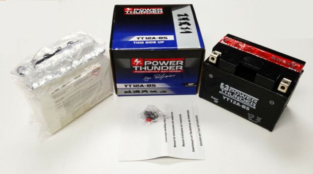 Bateria Power Thunder YT12A-BS Activada(  SUZUKI, KYMCO, PIAGGIO )