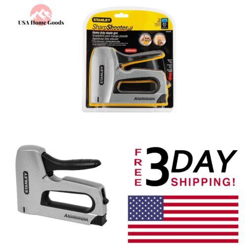 STANLEY Sharp Shooter Staple Gun Aluminum Fastening Hand Tool Easy Squeeze
