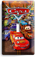 DISNEY CARS 2 MCQUEEN SINGLE LIGHT 1 SWITCH WALL PLATE COVER BOYS ROOM BEDROOM