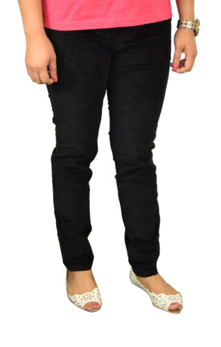 Ladies Slim Fit Stretchy Corduroy Elastic on Waist Jeans Trouser Womens Jeggings