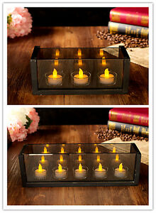 Tea-Light-LED-Electric-Candle-Holders-Set-of-4-and-5-for-Chrsitmas-Gift