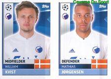 QFD7-8 MATHIAS JORGENSEN KVIST FC.KOBENHAVN STICKER CHAMPIONS LEAGUE 2017 TOPPS