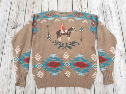 VTG Large Polo Country Ralph Lauren Chief Horse Ha