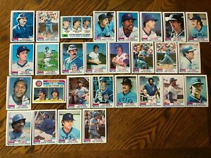 1982-CHICAGO-CUBS-Topps-COMPLETE-MLB-Team-Set-28-Cards-SMITH-RC-BONDS-BUCKNER