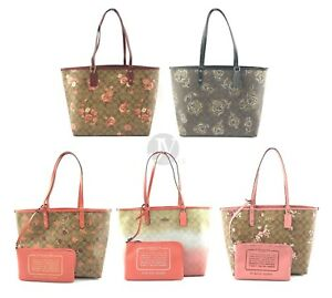 Coach-Coated-Canvas-Signature-Reversible-City-Tote-Hand-Bag