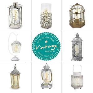 Eglo-Tischleuchte-Dekoleuchte-Vintage-Laterne-Retro-Leuchte-Haengelampe-Lampe