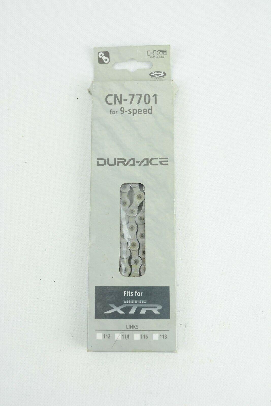 SHIMANO CN-7701 chain 114l    NOS, NIB    9s XTR