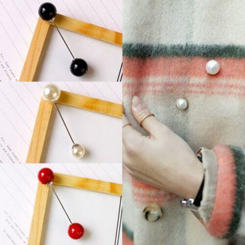 Charm Women Pearl Collar Cardigan Scarf Piercing Breastpin Brooch Pin Jewellery