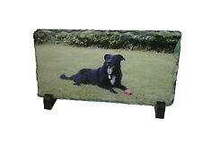 Personalised Custom Printed Rock Slate Photo Display Gift with stands