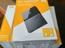 Western Digital My Passport  4TB USB 3.0 Portable External Hard Drive Black NEW!