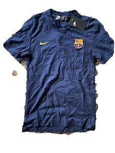 Activar Pensar Adición  Nike FC Barcelona 18/19 Grand Slam Polo Shirt Small Obsidian 892335-453 NWT  $80 886737927472   eBay
