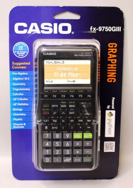 *NEW SEALED* CASIO FX-9750GIII GRAPHING CALCULATOR - BLACK