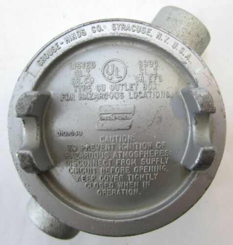 "Crouse-Hinds 699G Straight Hazardous Location Conduit Box 2 Hub 3//4/"""