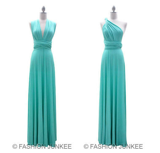 L2 MINT MULTI WAY Dress ConGrünible Bridesmaid Maxi Full Length NEW S M L XL