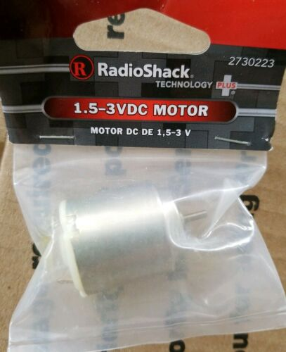 New 1.5-3VDC Motor RadioShack 273-0223