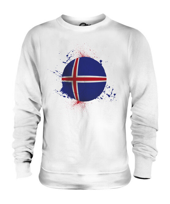 ICELAND FOOTBALL UNISEX SWEATER  TOP GIFT WORLD CUP SPORT