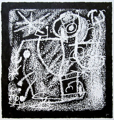 """JOAN MIRO Hand Signed 1968 Original Lithograph - """"Les Essencies de la Terra"""""""