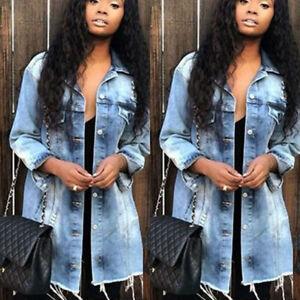 Women-Boyfriend-Ripped-Denim-Jacket-Casual-Long-Sleeve-Jeans-Coat-Tops-Outwear