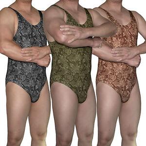 0d699c0ea6 Image is loading G3084-Mens-Bodysuit-Leotard-Bikini-Swimsuit -Tricot-Moderate-