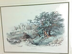 No.15 The Thorn Lithograph Fontainbleu Forest Barnard Del Signed 1868 Geo