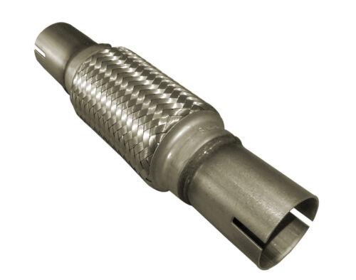 """55mm x 10 /"""" 55mm X 250mm Flexipipe Tuyau D/'échappement Decat Clamp-on Joint Flexi"""