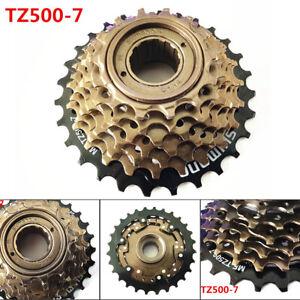 Bicycle-Freewheel-SHIMANO-MTB-MF-TZ500-7-Threaded-Freewheel-7-Speed-14-28T