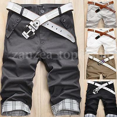 Men's Casual Summer Chino Shorts Cargo Work Combat Cotton Shorts Pants Trousers
