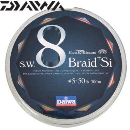Daiwa-Fishing Braided Line SW 8 Braid x8 + Si Evo Silicone 300m lb Japan