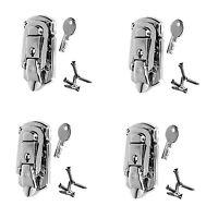 4 Pack Penn Elcom L1094n Locking Briefcase/draw Latch Nickle Finish & Screws