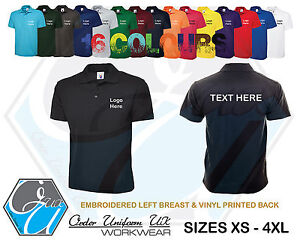 Personalised Custom Embroidered Printed Polo Work Shirt Workwear