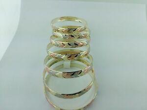 Gold Filled 7 Days Bangle Bracelet Child Size Semanario De Oro