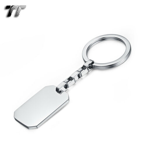 NEW KR08 TT 316L Polished Stainless Steel Key Ring Engravable