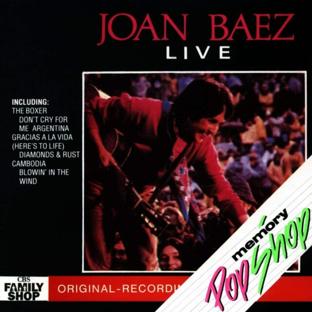 Joan Baez Live CD NEW SEALED Blowin' In The Wind/Diamonds And Rust/The Boxer+