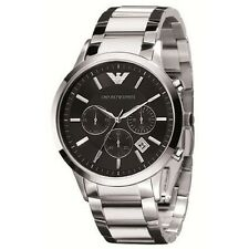 NEW EMPORIO ARMANI AR2434 BLACK DIAL STAINLESS STEEL MEN'S WATCH