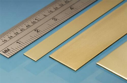 """Albion Alloys Brass Strip 1//4 x 0.016/"""" x 305 mm Long Ref: ABS1 Pack 5"""