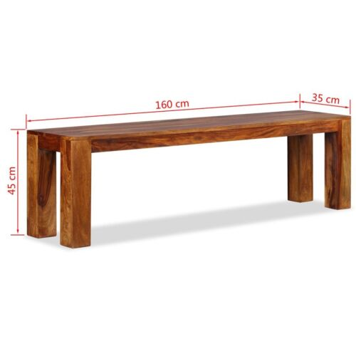 Wooden Garden Bench Seater Dining Chair Outdoor Patio Park Seat Solid 160//110 cm