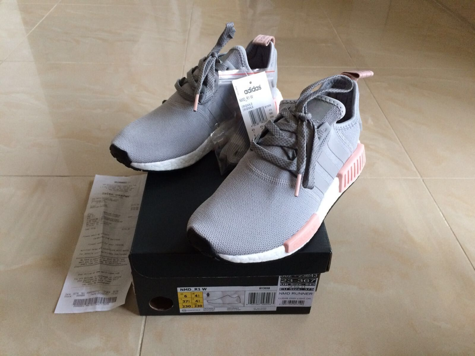 ADIDAS NMD R1 RUNNER RAW GREY PINK OFFICE OFFICE OFFICE EXCLUSIVE ALL SIZES 4 5 6 7 8 9 073bbc